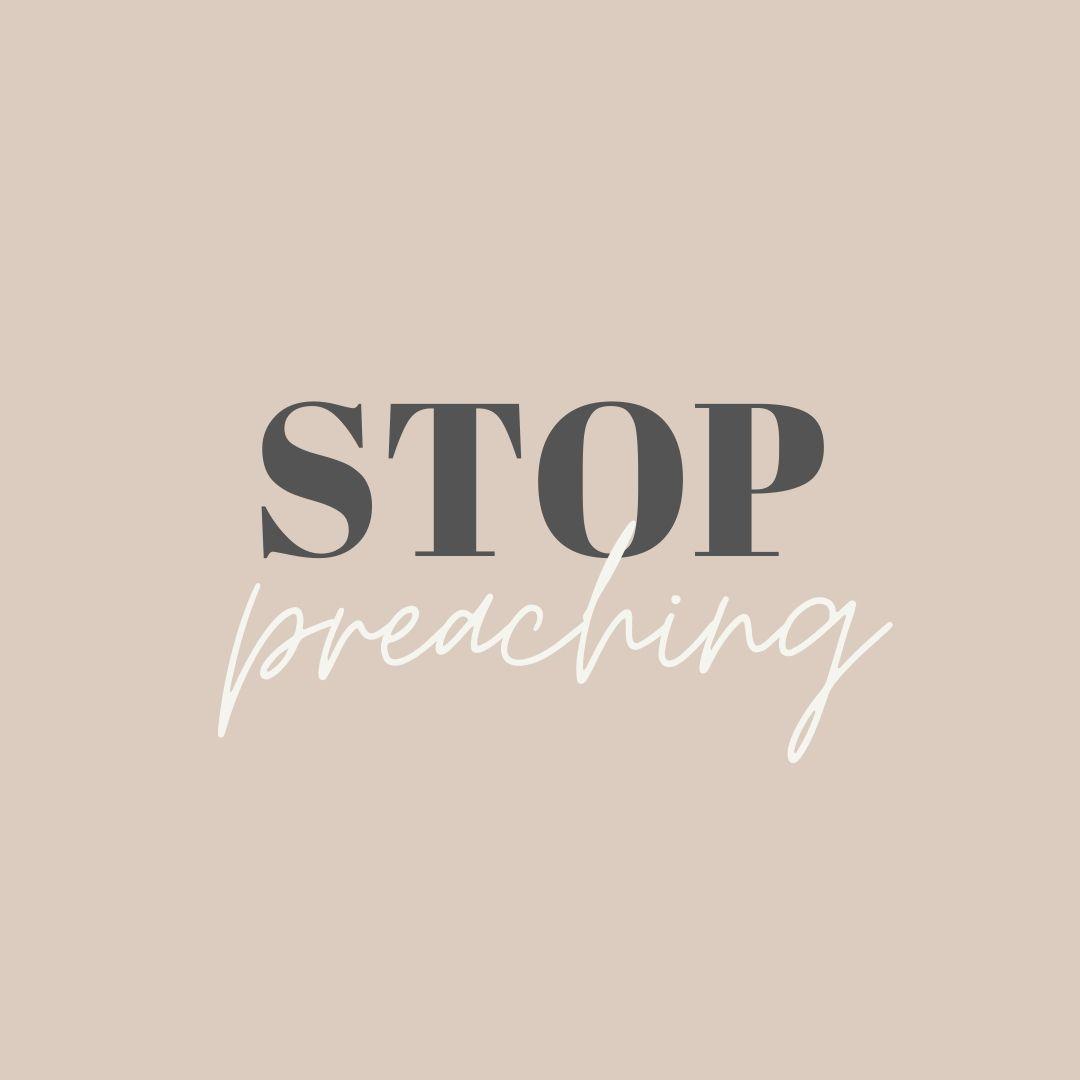 Stop Preaching - Bragadeesh Prasanna